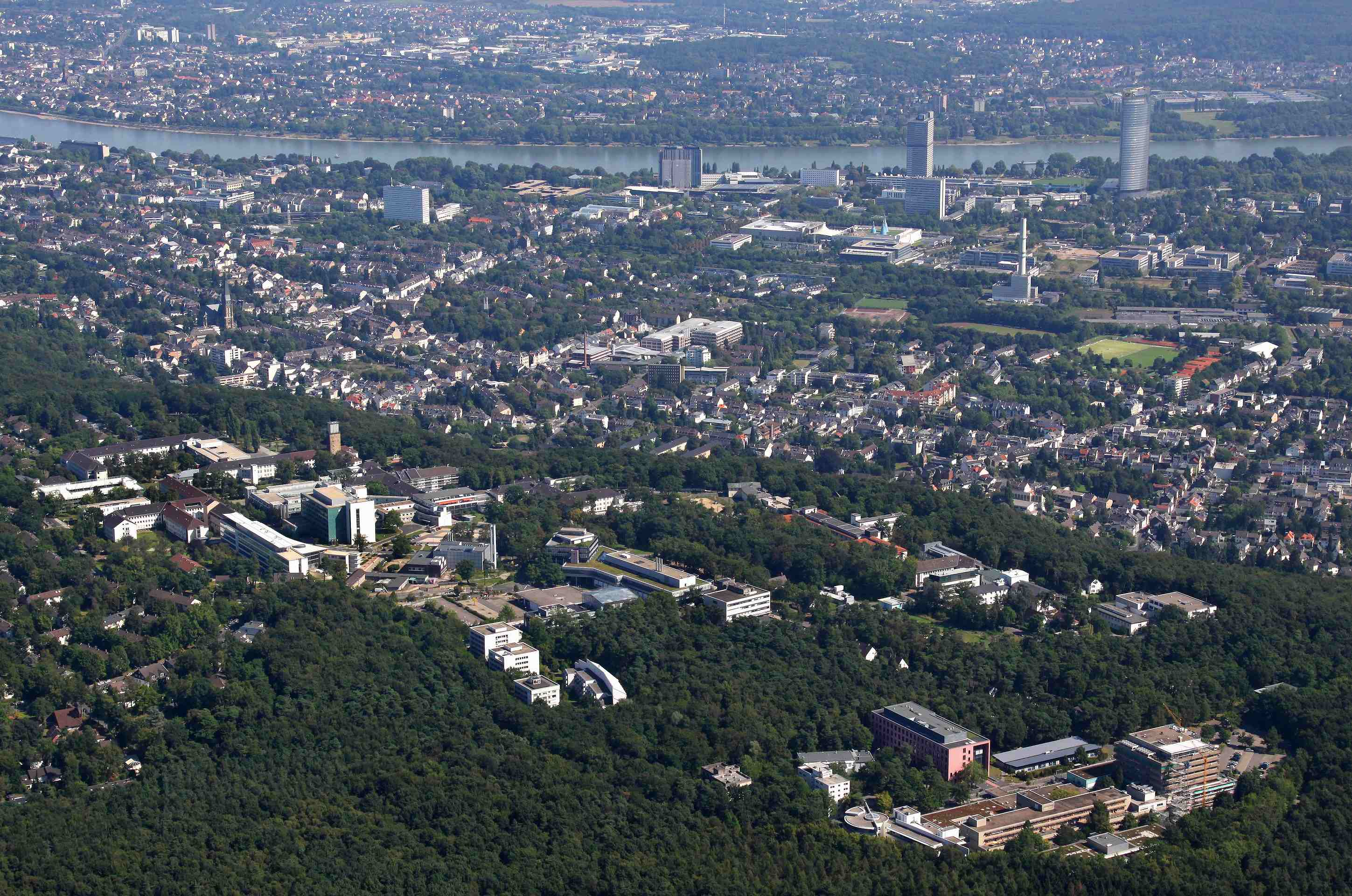 Aerial image of Bonn, Copyright: Peter Sondermann / University Bonn